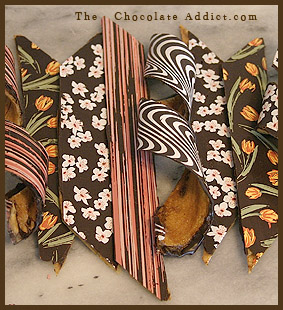 Chocolate Banana Ribbon with Transfer Sheets