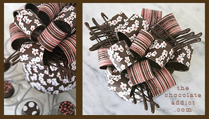 cake decorations chocolate bows shut up - Chocolate Decorations