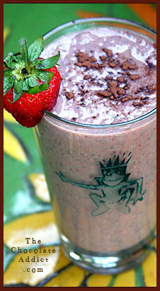 Chocolate Chia Seed Strawberry Smoothie