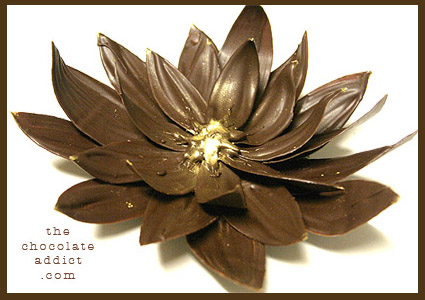 chocolate decoration lotus flower - Chocolate Decorations