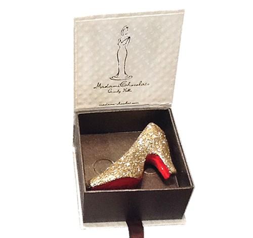 Chocolate Glitter Shoe by Madame Chocolat