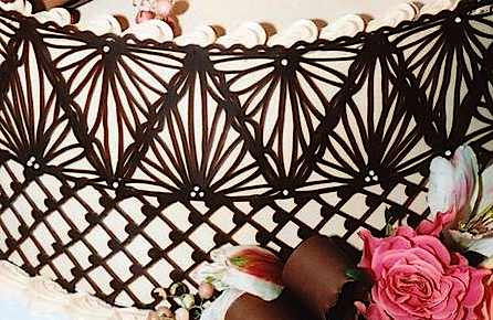 Make A Chocolate Lace Cake Decoration. Fit For A Queen. & Chocolate Decorating Ideas